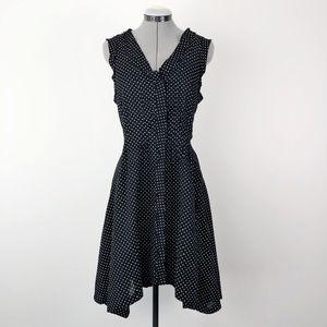 Sundance White Black Dancing Polka Dot Dress 10